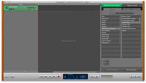 Garageband Interface Garageband Part 2 Creating A Simple Song With