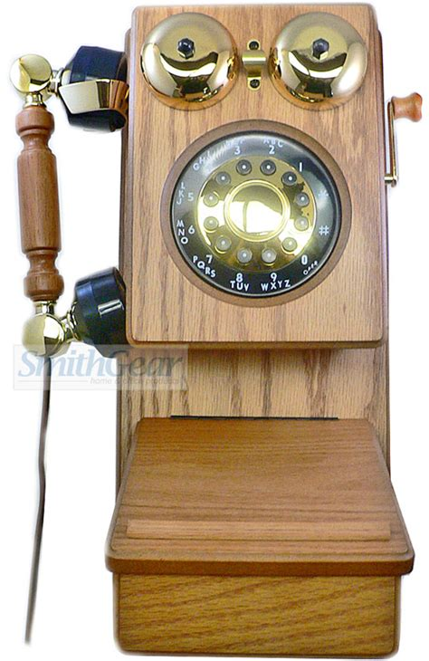 Kitchen Phone by Golden Eagle Electronics Classic Country Wood Wall Kitchen