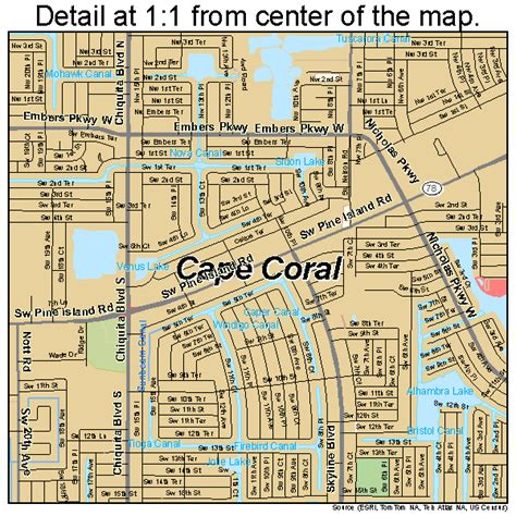 map of cape coral fl cape coral florida