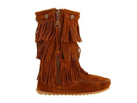 minnetonka fringe boots toddler minnetonka 3 layer fringe boot toddler kid