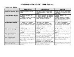 Writing Report Cards For Kindergarten by Grade 3 Report Card Rubric Writing Marking Period 2