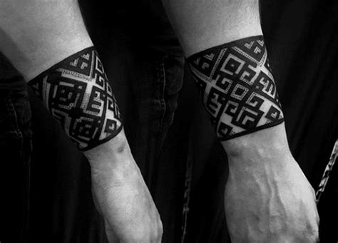 pattern band tattoo 50 forearm band tattoos for men masculine design ideas