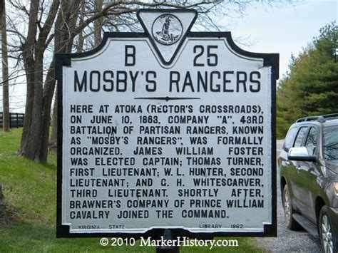 mosby s rangers a record of the operations of the forty third battalion virginia cavalry from its organization to the books mosby s rangers b 25 marker history