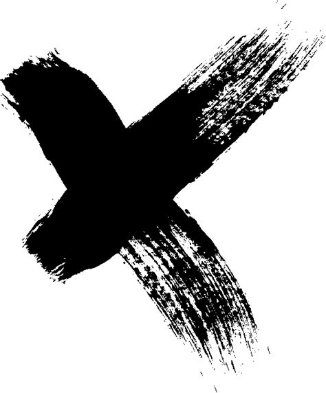 x paint 12 grunge x brush stroke png transparent onlygfx