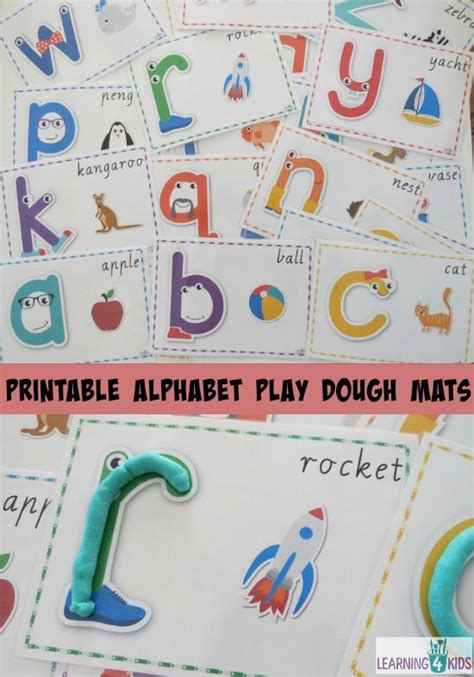 printable playdough mats alphabet printable alphabet play dough mats creative sleeve and