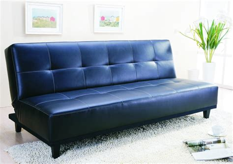 Blue Leather Sofa Bed with Modern Sofa Bed