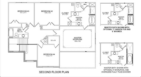 4 Bedroom House Plans One Story by Jackson Ii Floor Plan Update