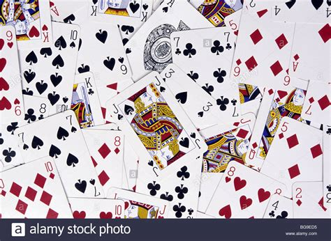 Picture Of A Gift Card - playing cards scattered face up on a surface stock photo royalty free image 27253777