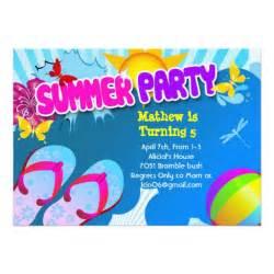 splish splash pool birthday invitation 5 quot x 7 quot invitation card zazzle