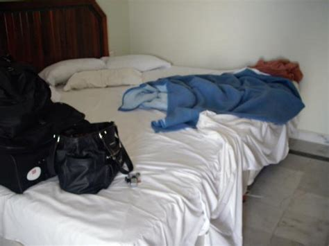 tied to bed and ed our quot king quot bed two fulls zip tied together picture of