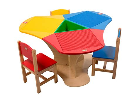 lego play table and chairs lego education three seat playtable solid hardwood 6099591