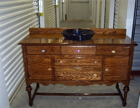 Hometalk Buffet Into A Bath Vanity Repurposed Furniture For Bathroom Vanity