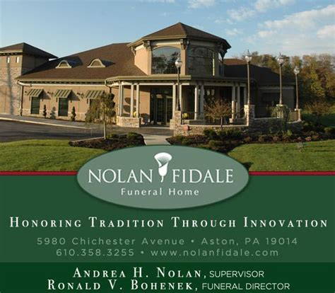 nolan fidale funeral home 5980 chichester ave aston pa