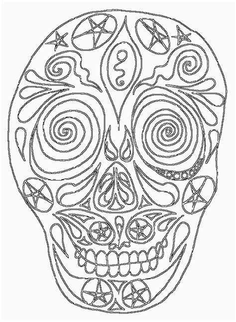 coloring pages for day of the dead day of the dead skull coloring pages bestofcoloring com