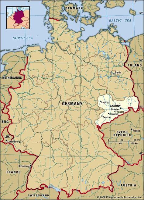 saxony germany map saxony state germany britannica
