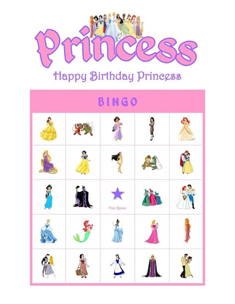 Can You Buy Disney Gift Cards - disney princess birthday party game bingo cards ebay