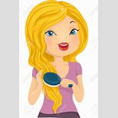brushing-your-hair-clipart