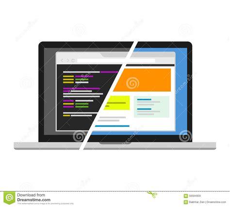web design code editor web design code designer programmer editor visual stock