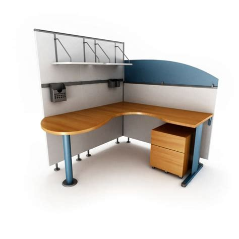 Oak Wood Corner Office Desk With Matching 3d Model Oak Corner Office Desk