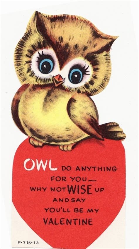 valentines owl owl do anything for you my vintage