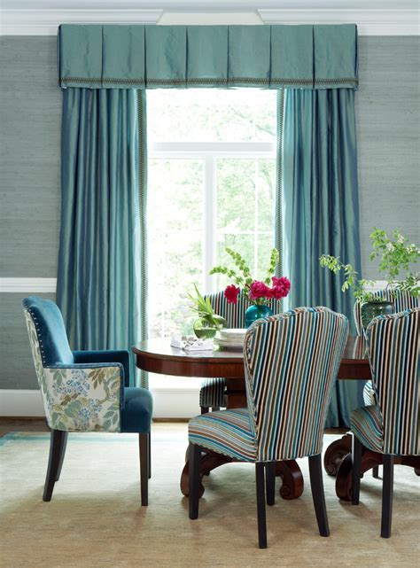 french door curtains Dining Room Traditional with area rug
