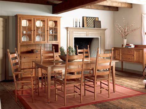 Shaker Style Dining Room Furniture Classic Shaker Style Hardwood Amish Dining Room Furniture