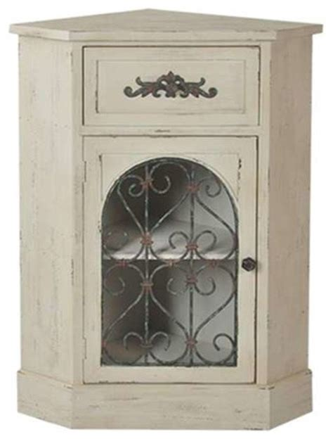albany antique white corner cabinet contemporary