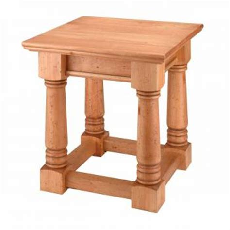 yield house end tables unfinished pine sofa end table kit