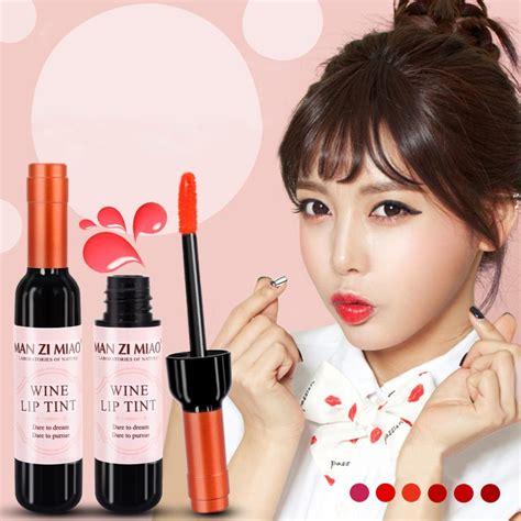 Make Up Kit Wine Lip Tint Zi Miao 192 prova d 193 gua coreano vinho tinto forma lip tint beb 234