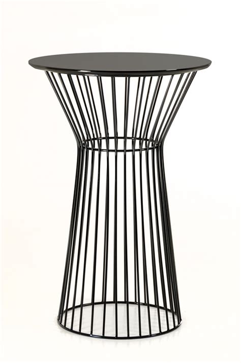 black wire bar table modern furniture brickell collection