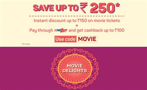 bookmyshow offers october 2017 bookmyshow offer get 50 cashback on 2 movie tickets