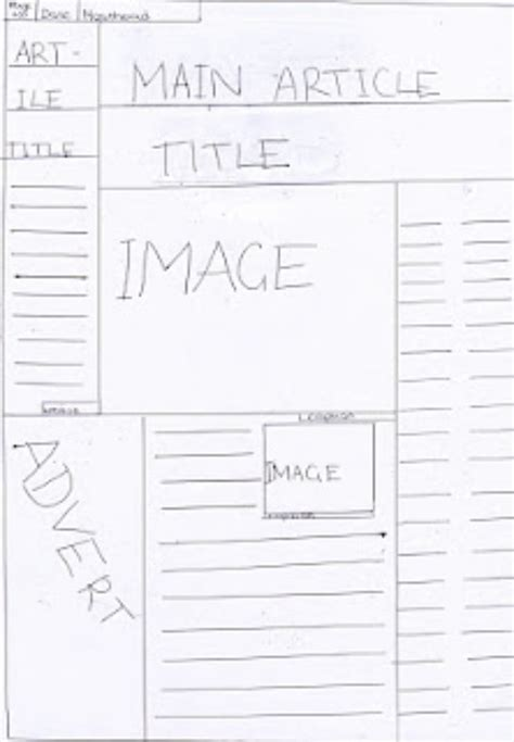 layouting newspaper the inside page layout for my final newspaper design