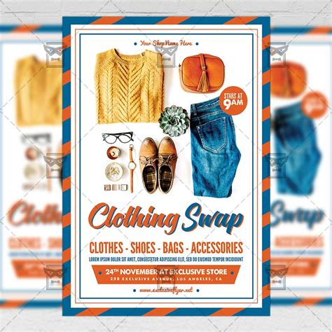 Clothing Swap Community A5 Flyer Poster Template Exclsiveflyer Free And Premium Psd Templates Apparel Flyer Templates
