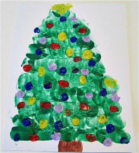 christmas tree crafts preschool preschool crafts for tree marshmallow painting craft sd 42 k teachers