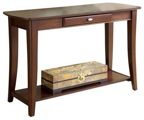 Traditional Sofa Table by Hammary Enclave Sofa Table Traditional Console Tables