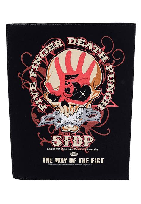 five finger death punch website five finger death punch the way of the fist backpatch