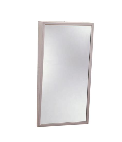 tilted bathroom mirrors bobrick b 293 bobrick fixed position tilt mirror