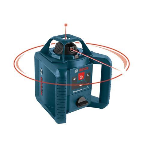 bosch laser level bosch 800 ft self leveling rotary laser level complete kit 5 grl 240 hvck the home depot