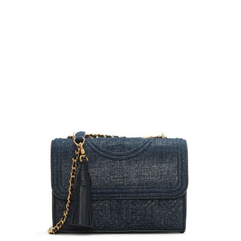 Burch Fleming Maroon Navy burch fleming small convertible navy denim suede shoulder bag in blue lyst