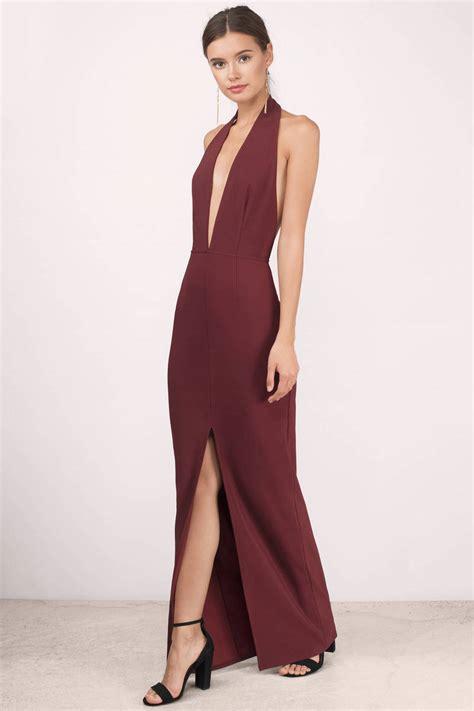 Wine Maxy wine maxi dress wine dress v dress 39 tobi us