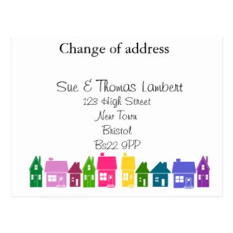 change address cards template new address postcards zazzle uk