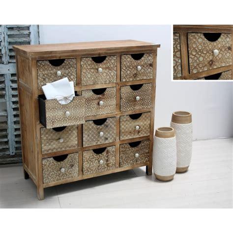 mobile cassetti cassettiera country con cassetti decorati in legno cm 92