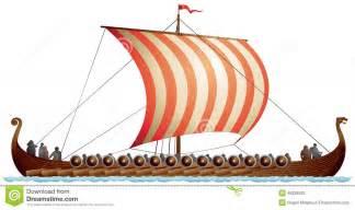 viking ship longship drakkar stock illustration image