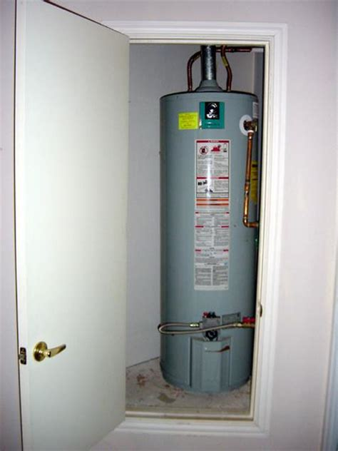 water heater in bedroom closet southern home