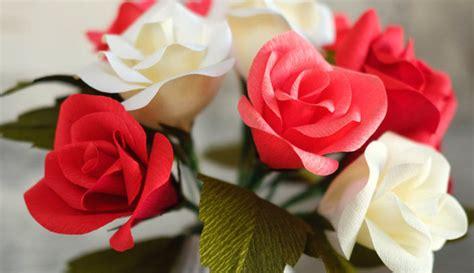 flores de crepe sencillas 35 ideas f 225 ciles con flores de papel crepe uma