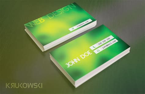 Green Themed Business Card Template by Green Business Card Template Business Card Templates On