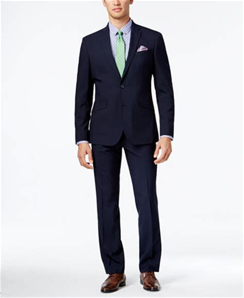 Mens Style M162 Kenneth Navy Diskon 15 kenneth cole reaction s slim fit navy mini stripe suit