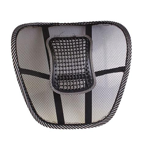 car seat mesh lumbar back brace support cushion universal car back seat support mesh lumbar back brace