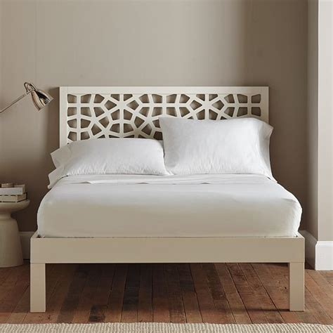 west elm twin bed morocco headboard white modern headboards by west elm