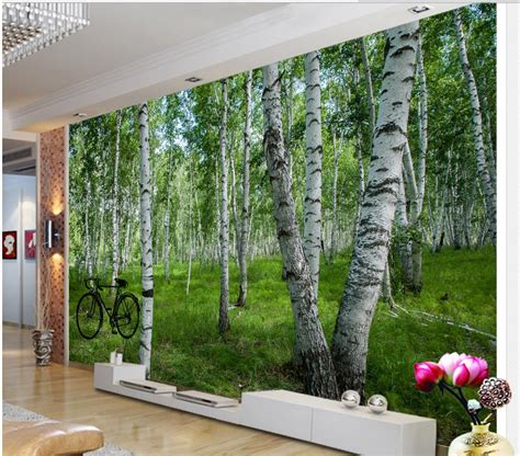 3d wallpaper for home decoration 3d bathroom wallpaper home decoration 3d wallpaper for room birch forest wall mural photo